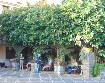 Brunch in the Piazza.  Sorrento, Italy.