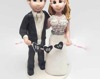 Wedding Cake Topper - CUSTOM cake topper, FUNNY cake topper, Wedding figurines, wedding topper, dog cake topper,dog wedding cake topper