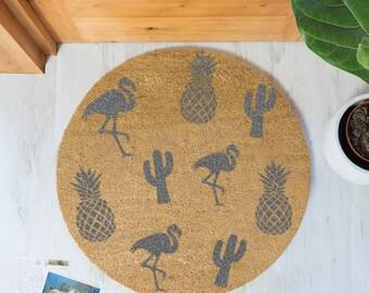 Grey Pineapple Doormat