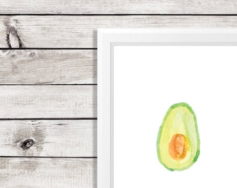 avocado print - avocado puns - kitchen art print - avocado art print - guacamole print - avocado art print - guacamole kitchen print