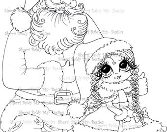 INSTANT DOWNLOAD Digi Stamps Big Eye Big Head Dolls Digi Bestie IMG949 By Sherri Baldy