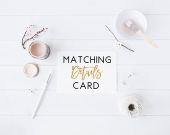 Matching Details Card Details Card Bridal Shower Baby Shower Wedding Shower