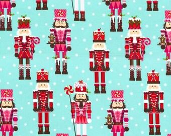 Nutcracker on Aqua from Michael Miller Fabrics - Christmas