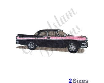 Classic Car - Machine Embroidery Design