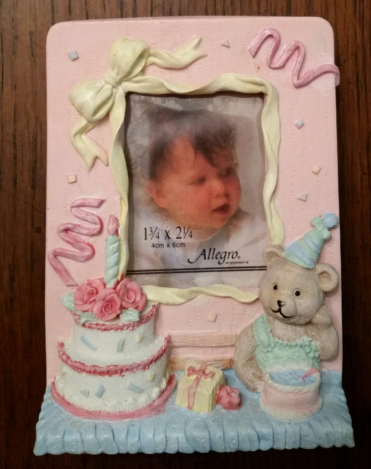 Vintage 1st birthday picture frame baby girl baby boy zoom jeuxipadfo Images