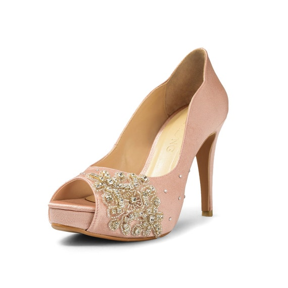 Peach Wedding Shoes 004 - Peach Wedding Shoes