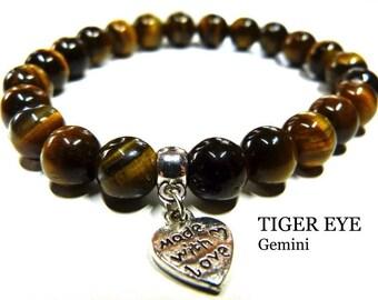 Tiger Eye Gemini Protection Crystal Healing Gemstone Bracelet Ameli Hope Crystals Power Bead