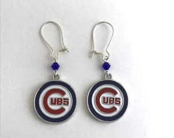 Chicago Cubs Earrings Free Shipping!