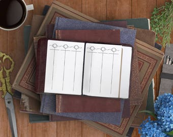 Magical Gathering Score PDF, Game Score Sheet PDF for your Passport, Field Notes. Planner Downloads for Fauxdori Refills & Midori Refills.