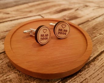 Cuff links with custom name