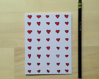 Hearts Pattern Notecards (set of six)