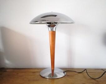 Vintage 1980s mushroom desk lamp, lamp steamer, vintage lamp, lamp year 1980 desk lamp, mushroom lamp
