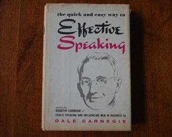 Vintage 1962 Book - Effective Speaking - Dale Carnegie