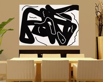 Extra Large Abstract Painting On Canvas, minimalist Paintings Canvas Art, Black And White Original Art Handmade Modern abstract painting