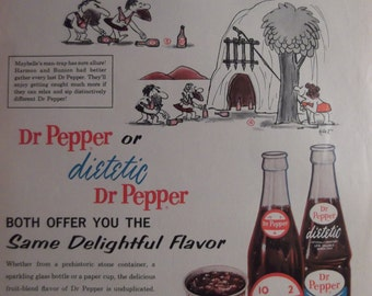PEPPER AD Kitchen Print Cafe Decor Restaurant Wall Art Retro Soft Drink Soda Original