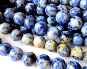 36 Sodalite gemstone beads 8mm blue stone beads C03