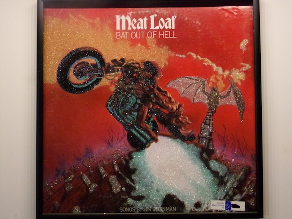 Glittered Record Album - Meat Loaf - Bat Out of Hell