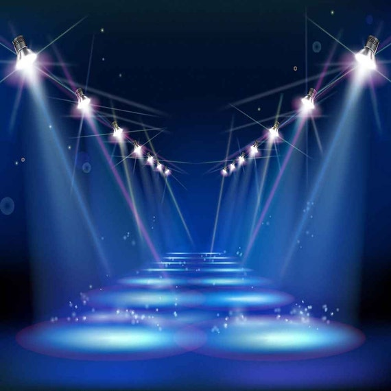 Theater Lights Background: Shining Stage Light 10ft X 10ft Backdrop Computer Printed