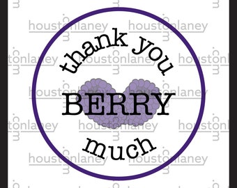 """Thank You """"Berry"""" Much (Blackberry) Thank You Tag"""