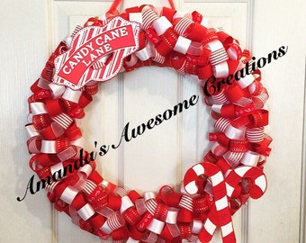 Candy Cane Lane Wreath (16in.)