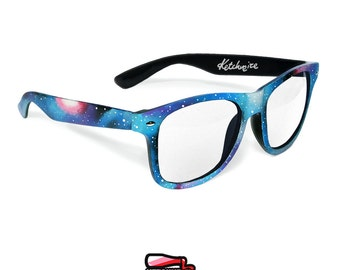 Celestial Space Galaxy Nebula unique men women glasses birthday gift for her gift for him festival personalized unique sunglasses clear lens