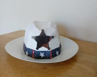 White Cowboy Hat Gift Box, Birthday, Father's Day-Free Shppg