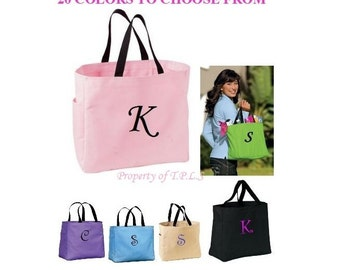 Embroidered Bridesmaid Gift Personalized Embroidery Tote Cheer Dance Monogrammed Embroidered Baby Wedding
