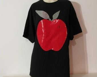 TEACHER'S PET Apple T-shirt Xxl Top kawaii Cute juicy fruit 16 18 vintage pastel goth 00s 90s y2k 70s jewel hungry for apples psychedelic