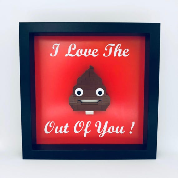 I Love The S**t Out Of You Frame, Mum, Gift, Geek, Box, Dad, Idea, For Her, For Him, Anniversary, Comic, Lego, Emojis, Geeky