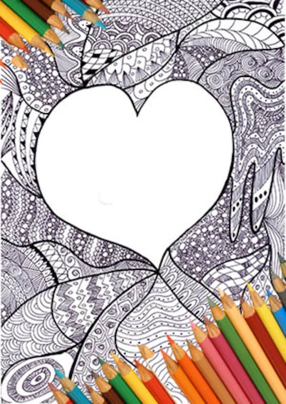 Coloring page coloring greeting card coloring page heart m4hsunfo