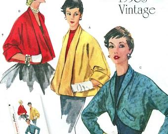 Simplicity 1319 RETRO VINTAGE REISSUE 1950s Set of Jackets ©2014 English & Spanish Espanol Instructions
