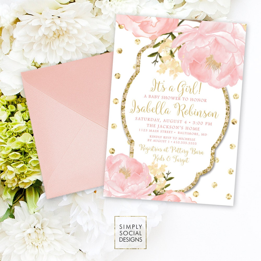 product invitations owl girl gold grey baby pink pkgreydots and shower starlite invitation glitter