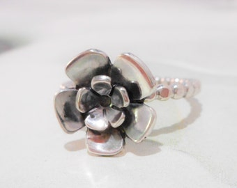 Forget - Me - Not // Wildflower Ring // Sterling Silver