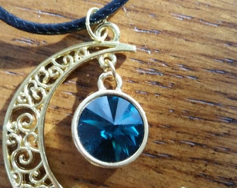 Emerald Swarovski Amulet of the Moon