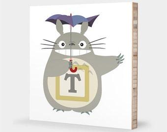 Totoro art | Laugh - My Neighbor Totoro nursery decor, Alphabet art, Baby shower gift, Kids wall art, Anime, Totoro baby decor, Baby gift