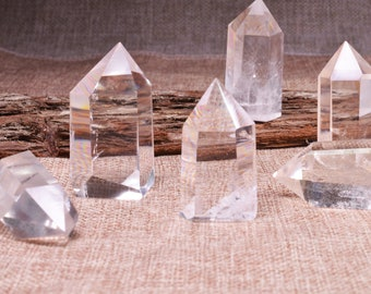Clear Crystal Quartz Tower,Clear Crystal Quartz Point,Healing Stone,Obelisk Point,Crystal Grids,Energy Balancing,Gift for Her,Reiki,
