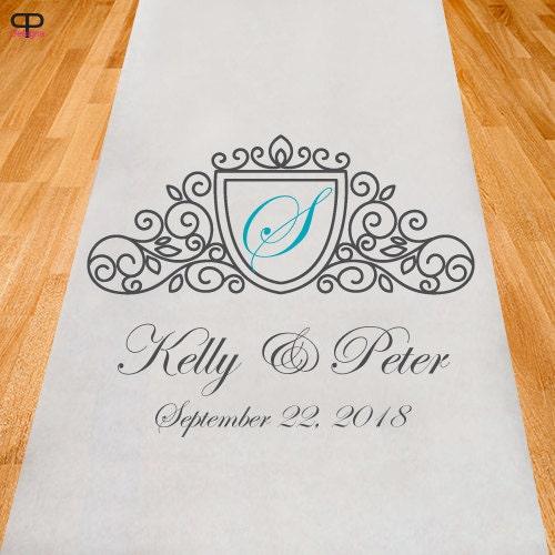 Elegant Seal Personalized Aisle Runner Wedding Ceremony