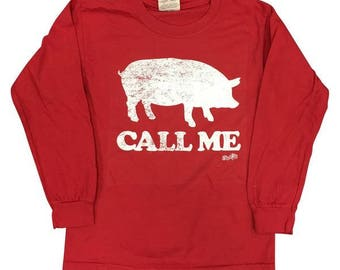 Call Me Razorbacks Kids Long Sleeve Tee