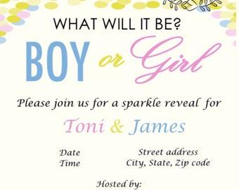 Sparkle Gender Reveal