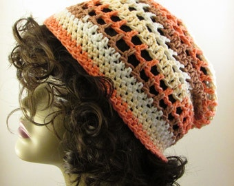 Coral Summer Slouchy Hat