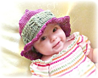 Dragonfly Summer Beach Hat pdf672 digital crochet pattern permission to sell finished products