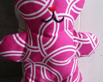 Pink cat plushie