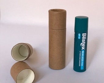 Kraft Paper Push Up Lip Balm Tubes 0.3 oz Capacity (15 units) - Go Green