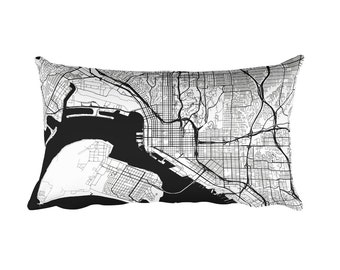 San Diego Pillow, San Diego Decor, San Diego CA Throw Pillow, San Diego Gift, San Diego Map, San Diego Art, San Diego California, Cushion