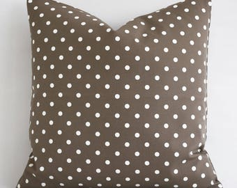 Solid Brown Cotton Decorative Pillow Cover Home Decor Accent Pillow Modern Pillow Cushion Cover Brown Pillows Couch Pillow Natural