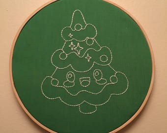 Christmas Tree embroidery hoop are