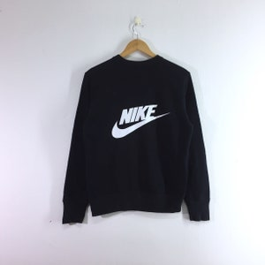 Nike sweatshirt pullover jumper sweater big spellout logo black