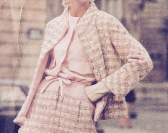 ON SALE Elegant Vogue Paris Original Dress and Jacket Pattern 1432 by Patou
