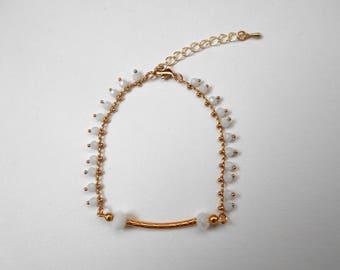 Graphic bracelet double row Oriental - designer jewelry
