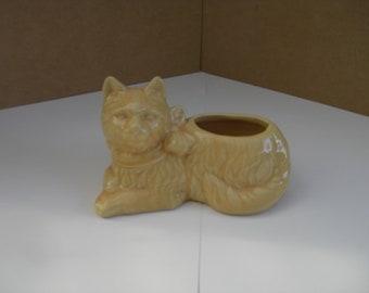 McCoy Pottery Cat Planter